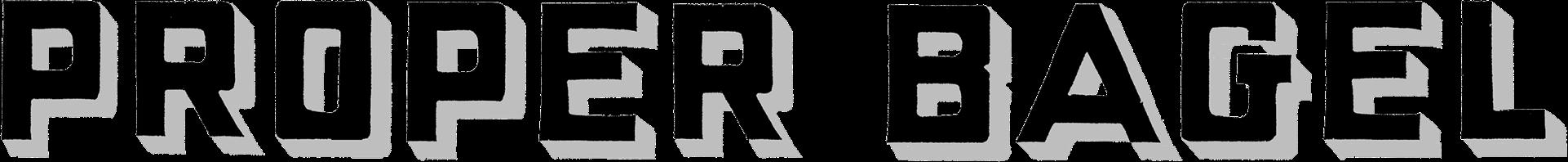 Proper Bagel Logo